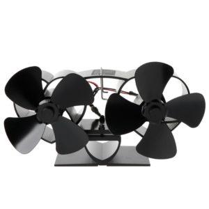 Loskii YL301 8 Blades Fireplace Fan Stove Fan Heated Fan Heat Powered Eco Fan