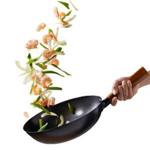 YIWUYISHI Lightweight Stir Fry Pot Kitchen Frying Pan Cooking Tool Cookware