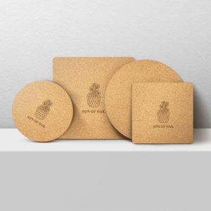 XiangEr 2PCS Natural Cork Multi-Purpose Pot Mat Plate Pan Pads Från Kitchen Anti-Heat Pads Isolerad Mat Pot Pads