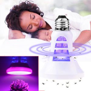 Inomhus USB LED Anti Mosquito Killer Lamp Plant Grow Light E27 110V 220V LED Insect Bug Zapper Lamp Fälla Växthusfrön Blomma Växande Lampa