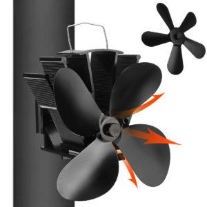 4/5 blad Miljövänlig spisfläkt Hushållsfläkt med låg ljudnivå Effektiv värmefördelning
