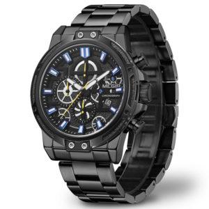 MEGIR 2108 Luxury Big Dial Waterproof Business Men Watch