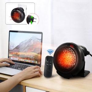 1000w Mini bärbar elektrisk värmare skrivbordsvärme varmluftsfläkt hemmakontorsvägg