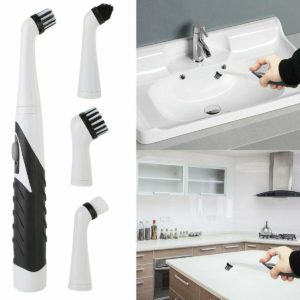 4 Heads Sonic Scrubber Cleaner Multifunctional Electric Brush House Dust Helper Kitchen Household Cleaning Brushes