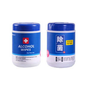 Portable Household 60 Pcs Disposable Alcohol Antiseptic Cleaning Sterilization Wipes for Home Cleaning Care