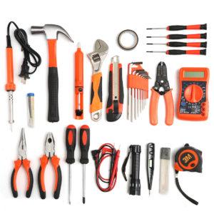 35Pcs Multifuntional Tools Kit Set Steel Household Electrician Kits Hardware Toolbox