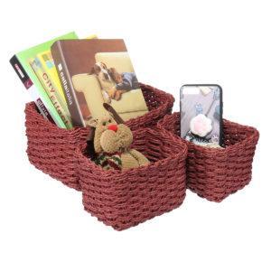 3PCS/Set Storage Basket Plastic Crate School Office Kitchen Pharmacy Tidy Organiser