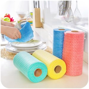 25 st / rulle icke-vävda köksrengöringsdukar engångs multifunktionella trasor torkar skurplatta möbler köksutrustning tvätt handduk diskduk