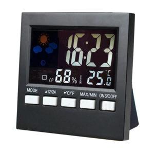 Bakeey LCD-skärm Digital termometer fuktighetsväckarklocka för smart hem