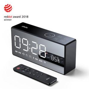 Dido X9 Super Bass Mirror Wireless Bluetooth Speaker Remote Control TF Radio Speaker 3D Digital Sound Loudspeaker Alarm Clock