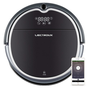 LIECTROUX Q8000 2 in 1 Robot Vacuum Cleaner, WiFi App, 2D Map Navigation, Suction 3000Pa, Memory, Wet Dry Mop