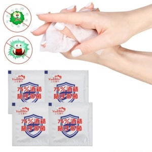75% Alcohol Disinfecting Wipes Efficient Sterilization Single Piece Individually Packaged Epidemic Prevention Desinfection Wipes Hand Portable Packet Cleaning Care