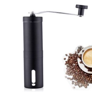 Mrosaa bärbar mini handhållen tvättbar kaffekvarn kaffebönor kvarn rostfritt stålmaterial