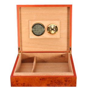 20 Counts Cedar Wood Lined Cigar Storage Box Humidifier Cigarette Case With Hygrometer