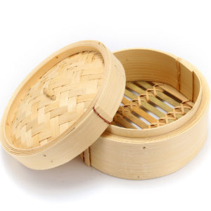 """Bamboo Steamer 6"""" Chinese Cantonese Dim Sum Basket Rice Pasta Cooker Cook Lid"""