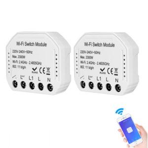 Bakeey 2300W 2Way Wifi Smart Switch Dold Graffiti Fjärrkontroll Support Alexa Google Home För Smart Home