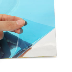 40Pcs Mirror PVC Wall Square Stickers Decor Self-adhesive Decoration 15*15cm