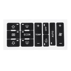 Bilknappar Reparation Klistermärken A / C Värmare Switch Kontrollknapp Reparation Dekal Sticker Set