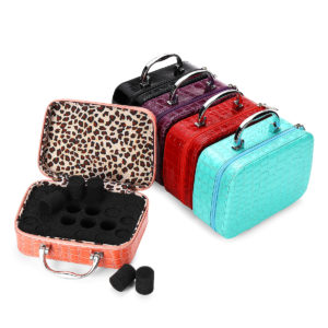 22 Slot Essential Oil Storage Box Leather Case Carrying Container Aromatherapy Portable Bag