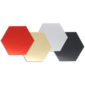12Pcs 12.6cm Mirror Wall Sticker Vinyl Hexagon Removable Acrylic 3D Mirror DIY Home Room Decor Art