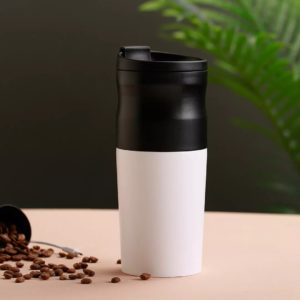 Protable Electric Coffee Grinder From Double-layer Filter 1200mAh Battery Heat Preservation Coffe Cup for Office Travel Camping