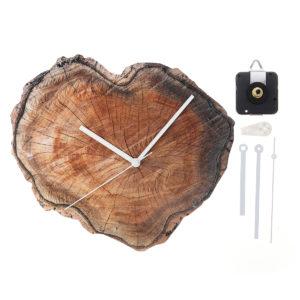 11'' Retro Wood Wall Clock DIY Living Room Home Bar Office Decoration 28cm Watch