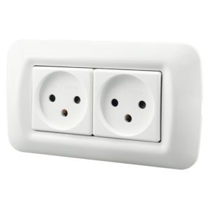 Dixinge Israel Standard Power Dual Socket Israel Type Wall Socket Power Outlet 16A 250V Power Outlet