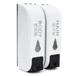 2x 350 ml väggmonterad tvål för dispenser för dusch Body Lotion Shampoo Liquid Storage Bottle