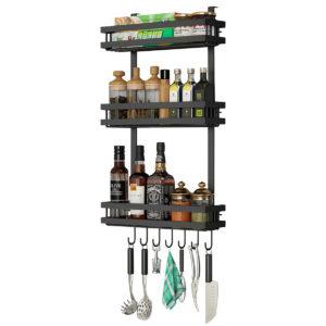 3 Tier Kitchen Refrigerator Storage Rack Fridge Seasoning Organizer Hang Shelf