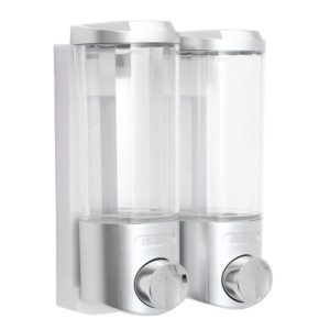 2x400ml Bathroom Kitchen Wall Mount Soap Dispenser Liquid Lotion Bottle Shampoo Shower Container