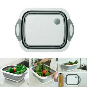 4 in 1 Foldable Multifunctional Board Tool Fruit Vegetables Sink Drain Storage Basket