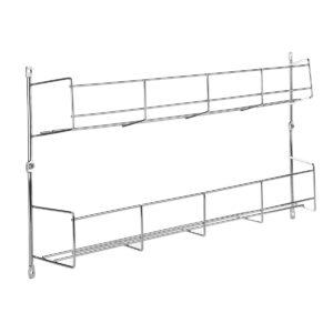 2 Tier Kitchen Spice Rack Cupboard Organizer Wall Mount Storage Pantry Eggs Holder