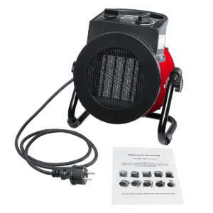 220V 9A 2KW Portable Electric PTC Fever Waterproof Ceramic Fan Heater Hot Air Heater