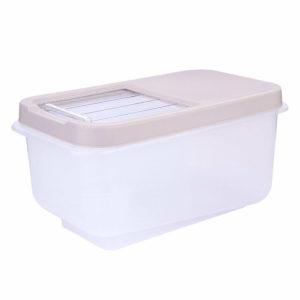 Japanese Plastic Rice Barrel 10kg Rice Storage Household Rice Bucket Moistureproof Transparent Kitchen Storage Container
