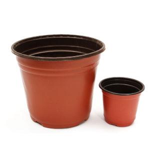 50st Plast Nursery Pot Flower Flower Plant Plantor Planter Krukor Behållare 2 Storlekar