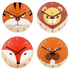 28cm Animal Mute Round Wall Clock Modern Home Living Room Kitchen Watch Decor