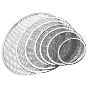Seamless Rim Aluminium Mesh Pizza Screen Baking Tray Net Bakeware Cooking Tools