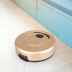 Svart / guld uppladdningsbar automatisk Smart Robot dammsugare Rengöringssopare