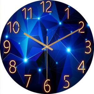 12 tums mode glas kvarts klocka hem levande tyst tyst enkel klocka