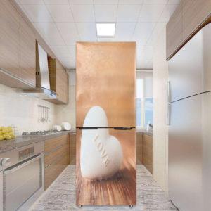 3D väggkonst klistermärke Kärlek hjärta Vinyl dekal Självhäftande dörr kylskåp Wrap väggmålning dekor
