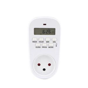 Gerslin GET02A Israel Plug Digital Weekly Programmerbar Elektrisk Vägg Plug-in Power Outlet Timer Switch Outlet Time Clock