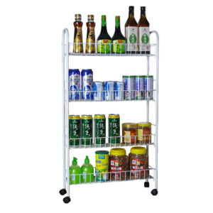 3/4 Layers Multi-function Shelf Portable CartWheels for Household Kitchen Items Storage