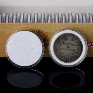 20st Tillämpad Myntmynt Displayhållare Förvaringslådor Kapslar Skydd 20-40mm
