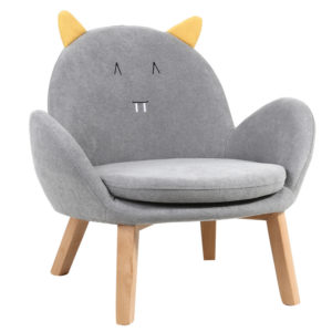 Children Single Fabric Sofa Cartoon Animal Removable Washable