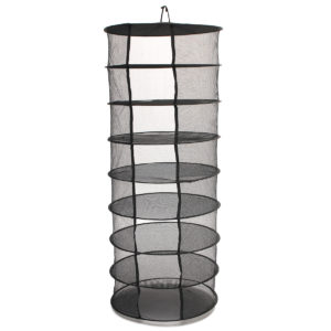 2ft 8 Layer Black Mesh Collapsible Hanging Herb Hydroponic Drying Dryer Rack Storage Net