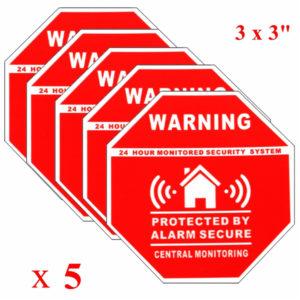 5st Hemlarm Säkerhetsdekaler Dekaler Skyltar för fönsterdörrar