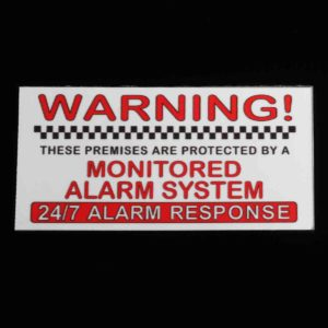 5Pcs Alarm System Monitored Warning Security External Sign Stickers PVC Waterproof
