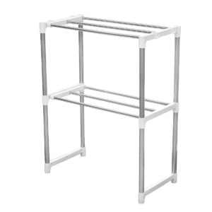 2 Layers Microwave Oven Stainless Steel Rack Kitchen Storage Shelf Container Kitchen Storage Rack