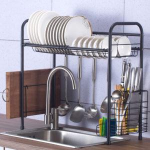 60/70/80/90cm 304 Stainless Steel Single Layer Rack Shelf Storage for Kitchen Dishes Arrangement