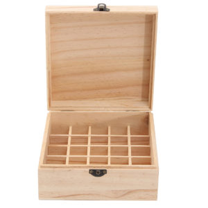 25 Grids Wooden Box Bottles Container Storage for Essential Oil Jewelry